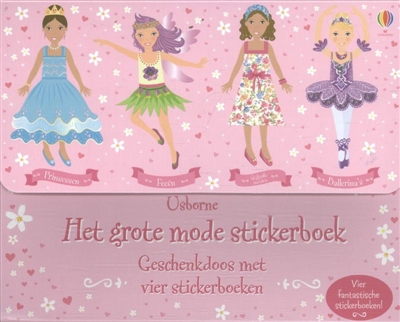 Grote mode stickerboek geschenkdoos