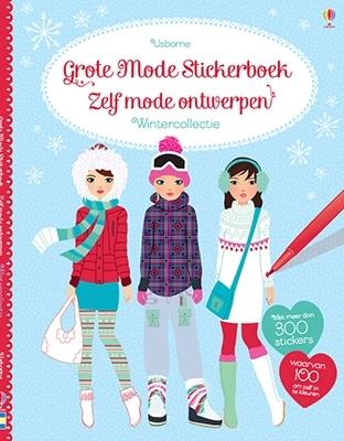 Grote mode stickerboek Zelf mode ontwerpen - wintercollectie