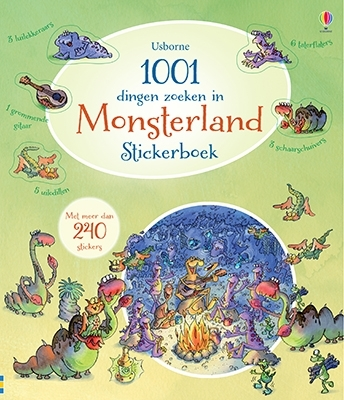 1001 dingen zoeken in monsterland  stickerboek