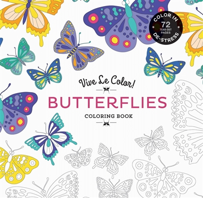 Vive le color! butterflies (coloring book)