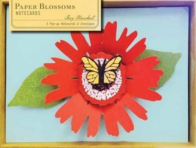 Paper blossoms notecards (6 pop-up notecrads + envelopes)