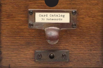 Card catalog: 30 notecards : 30 notecards from the library of congress