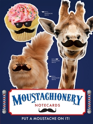 Moustachionary notecard set (12 notecards)