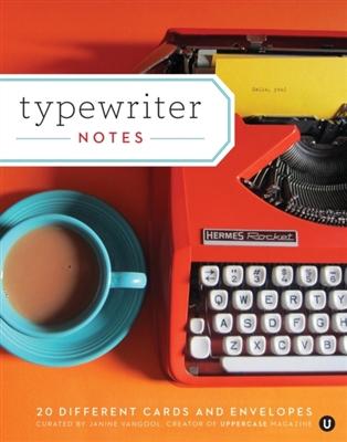 Typewriter notes: 20 notecards + envelopes