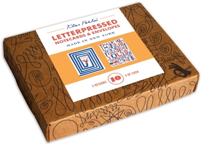 Klas fahlen: letterpressed notecards - 10 notecards + envelopes