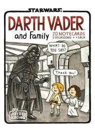 Darth vader and family: 20 notecards + envelopes