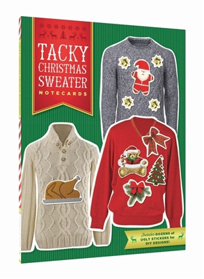 Tacky christmas sweater 12 notecards + envlopes
