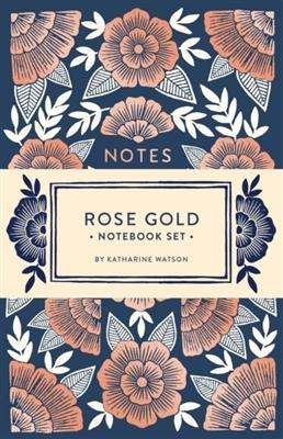 Rose gold notebook set