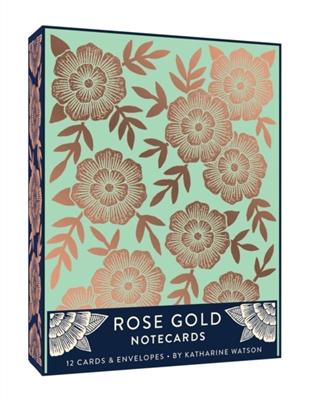 Rose gold 12 notecards + enve,opes