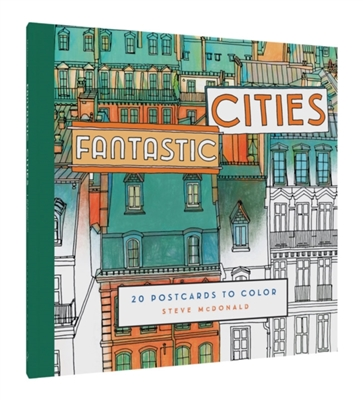 Fantastic cities: 20 postcards to colour