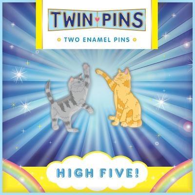 Pin pals: high five! : 2 enamel pins