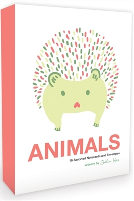 Animals note cards: 16 assorted notecards + envelopes