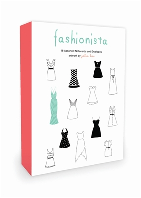 Fashionista note cards: 16 assorted notecards + envelopes