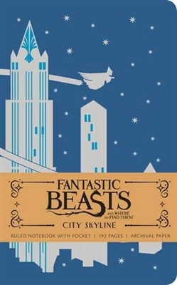 Fantastic beasts : city skyline hardcover ruled notebook