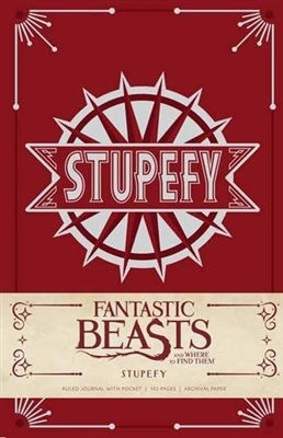 Fantastic beasts : stupefy hardcover ruled journal