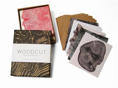 Woodcut notecards (12 notecards + envelopes)