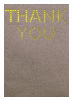 Neon letter art thank you: 10 notecards + envelopes