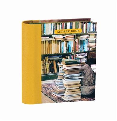 At home with books mini hardback address book