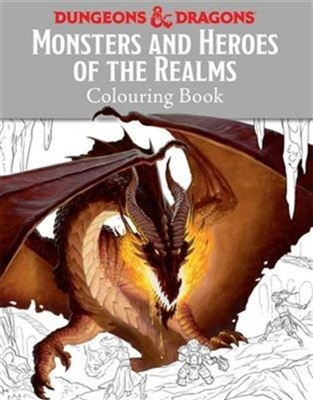 Monsters and heroes of the realms : a dungeons & dragons colouring book