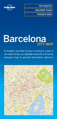 Lonely planet: city map barcelona (1st ed)
