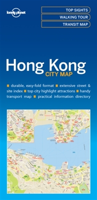 Lonely planet: city map hong kong (1st ed)