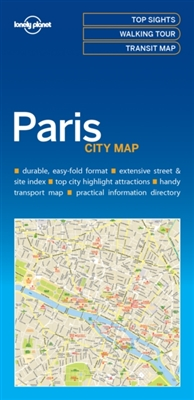 Lonely planet: city map paris (1st ed)