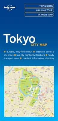 Lonely planet: city map tokyo (1st ed)