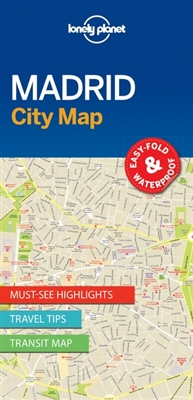 Lonely planet: city map madrid (1st ed)