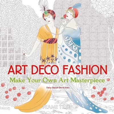 Art deco fashion colouring book