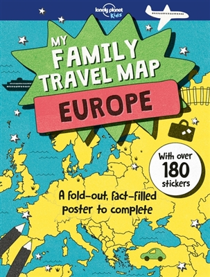 Lonely planet: my family travel map - europe (1st ed)