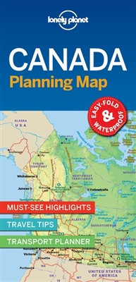 Lonely planet: canada planning map (1st ed)