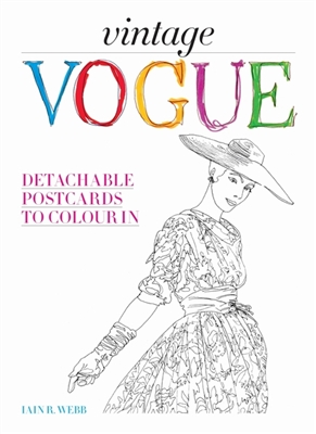 Vintage vogue : detachable postcards to colour in
