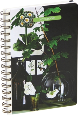 Botanical style medium spiral-bound notebook