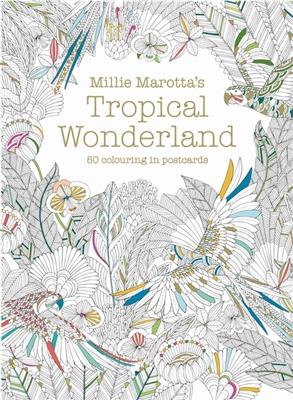 Millie marotta's tropical wonderland postcard box :