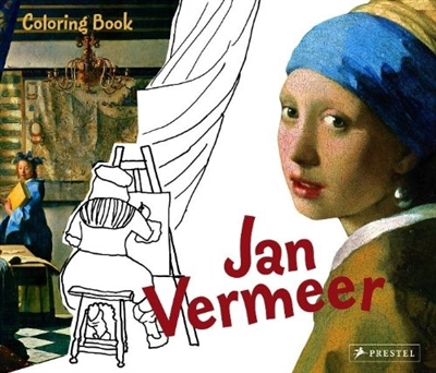 Jan vermeer colouring book