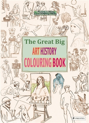 Great big art history colouring book