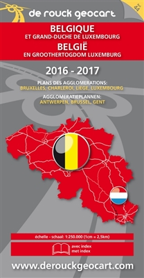 Landkaart 044. belgië - luxemburg 1/250.000 2016-2017 -