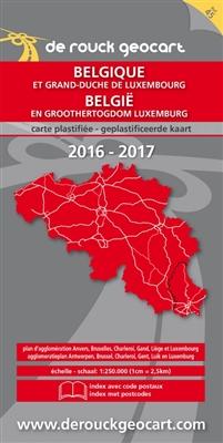 Landkaart 045. belgië - luxemburg 1/250.000 (gelamineerd) 2016-2017 -