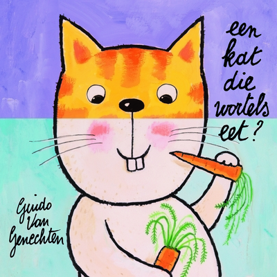 Kijk- en doeboek Kat die wortels eet
