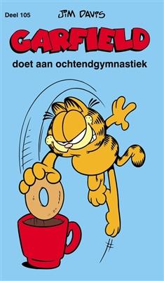 Garfield pocket 105. doet aan ochtendgymnastiek